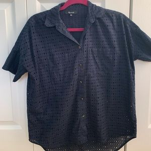 MADEWELL navy patterned button down